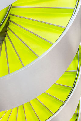 Photo of a Close up of an architectural and colorful staircase