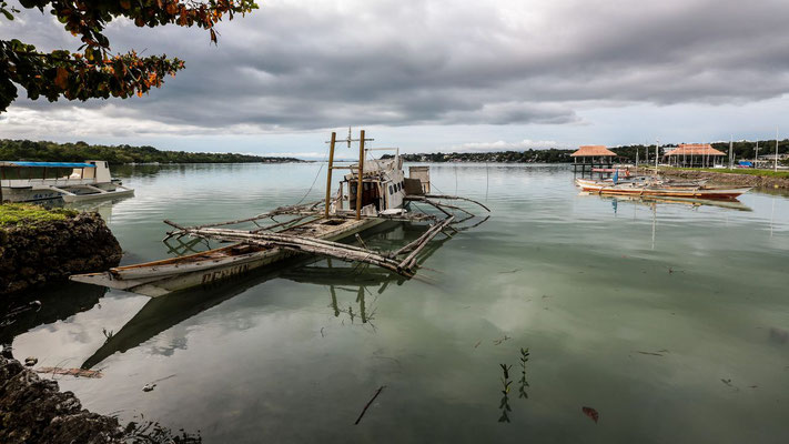 Landscape of a seaport in Bohol