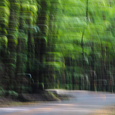 Photo of a Landscape scenery abstracted by shaking the camera