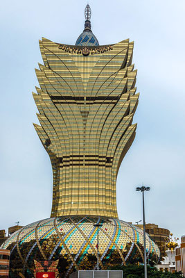 A picture of The Grand Lisboa building in Macau