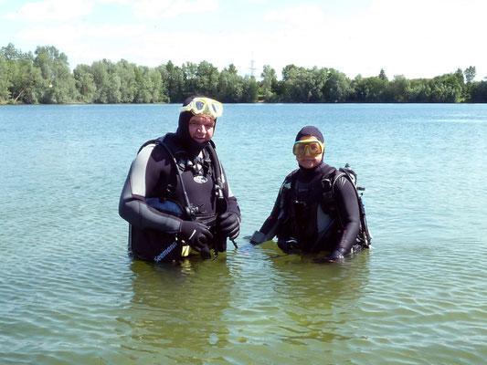 Gerd und Andrea im Freiwasser