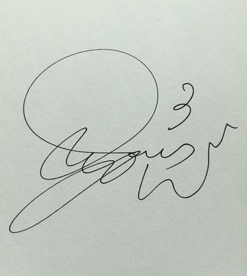金井選手のサイン!