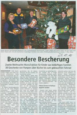 Weihnachtswunschaktion 2010