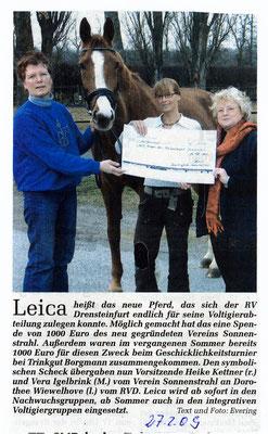 Leica, das Voltigierpferd 2009