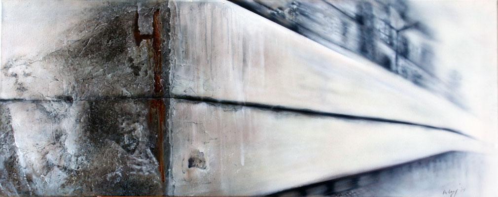 Auf der anderen Seite der Mauer, 120x40, 2009