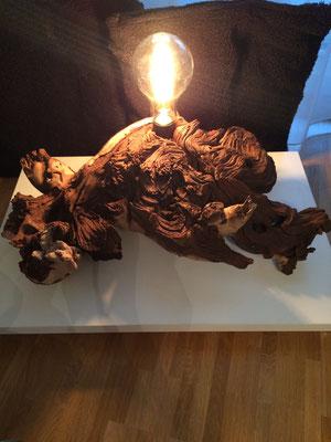 Dekorlampe Wurzel