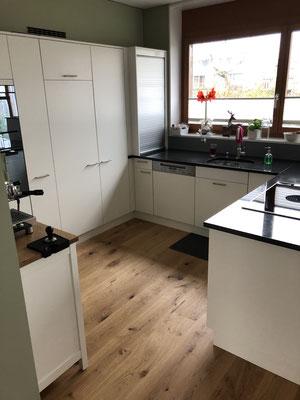 Küchenumbau und Parkettboden