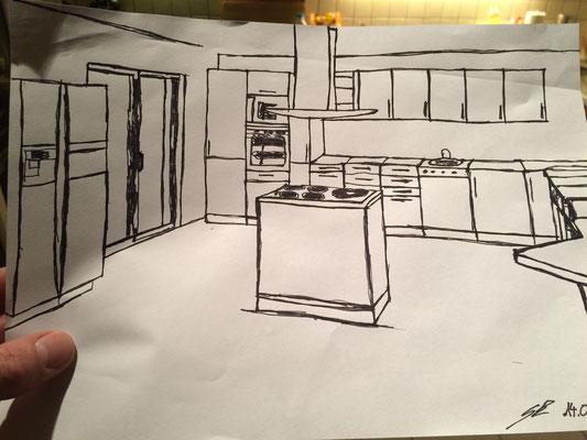 Planskizze Küche