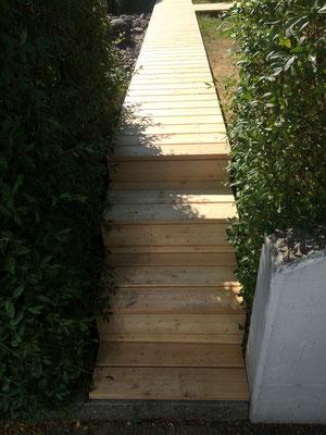 Terrassen Steg Lärche