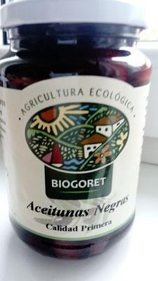 Bio-Oliven schwarz mit Kern