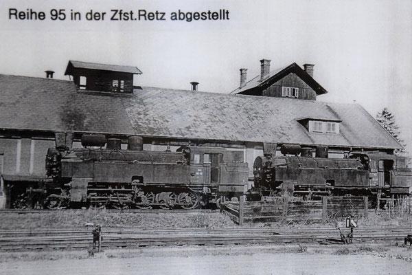 ÖBB 95 in Retz abgestellt