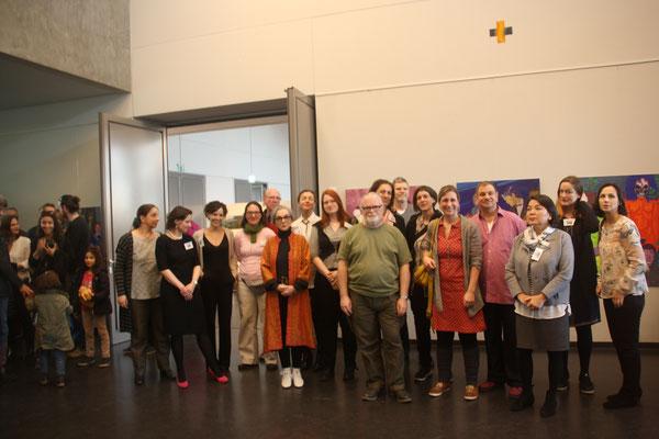 Gruppenbilder teilnehmenden KünstlerInnen bei den Kunst-Tagen 2018
