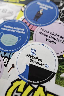 #Wellenbrecher Sticker