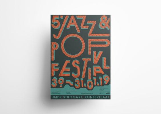 Postervorschlag für das Jazz & Pop Festival Stuttgart 2019  | ©2019 Marius C. Merkel