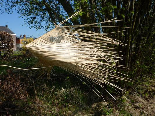 """""""Paniers-lachez-les"""", osier blanc et fils de cuivre, 2010"""