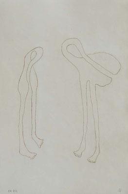 Sans titre, n°3,  (série Retournement en cours), 2015, eau-forte sur papier 19,5cm x 29,5 cm