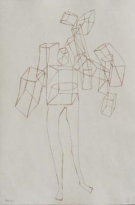 SanSans titre, n°7,  (série Retournement en cours), 2015, eau-forte sur papier 19,5cm x 29,5 cm