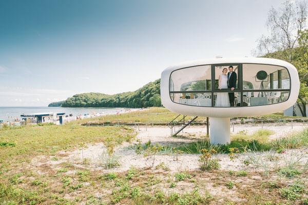 Standesamtliche Hochzeit am Strand in Binz