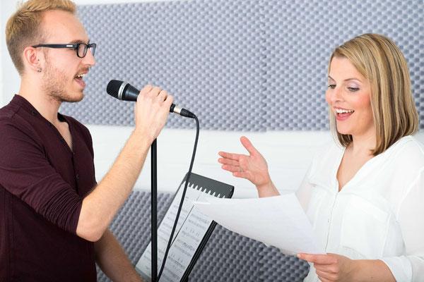 Businessporträt, Gesang, Gesangsunterricht