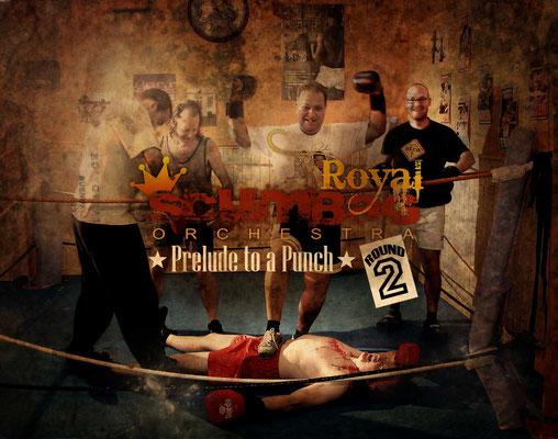 Guitarrista Miki 'Popeye' Pannello con la banda Royal Scumbag Orchestra