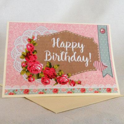 handgefertigte Geburtstagskarte