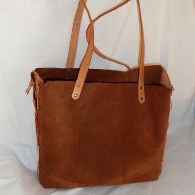 Wildledertasche, handgefertigt