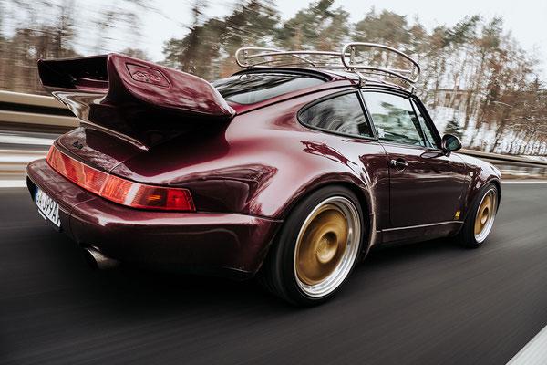 Porsche Optimierung Dachgepäckträger Sticker Aufpolsterung