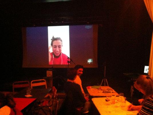 télédiscussion avec Lee Brumer (Londres) et le public de TTZ à Villeurbanne