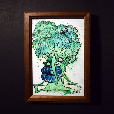 framed mini painting comission