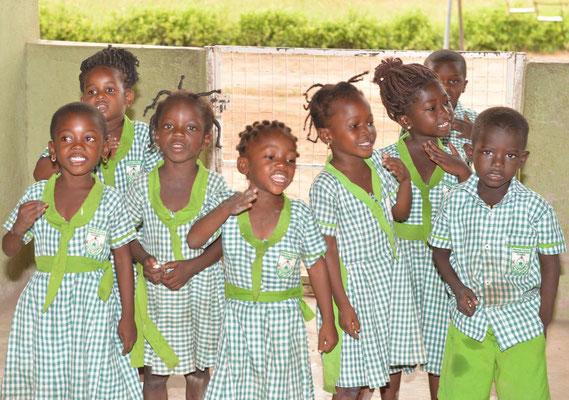 Unsere Kindergartenkinder beim Singen