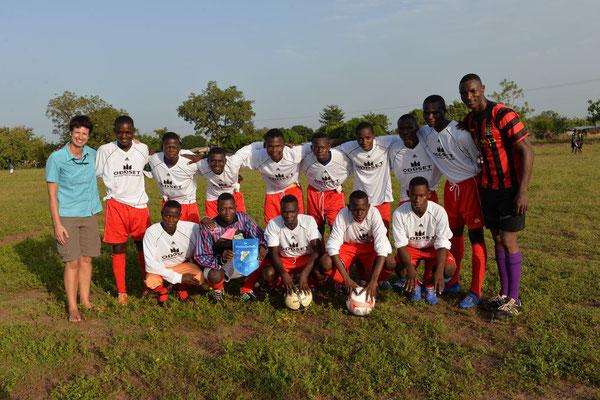 Sportler beim Fußballmatch