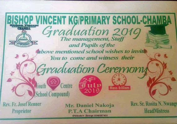 Einladung zur Abschlussfeier vom Kindergarten