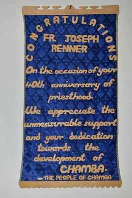 Die Missionsstation von Pfarrer Renner - Ehrentafel