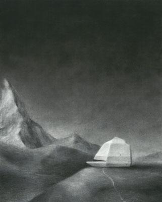 Südlade 3 / Kohle, Pastell auf Papier / 52 cm x 42 cm / 2018 / in Privatsammlung