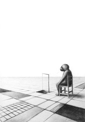 Glücksangler/ Pastell auf Papier / 42 cm x 29 cm / 2018 / in Privatsammlung