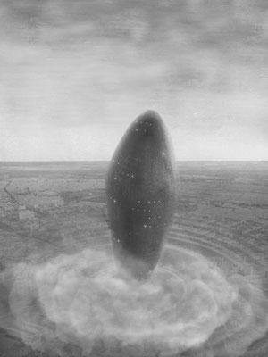 Das Ei des Kolumbus 2 / Mischtechnik / 105 cm x 75 cm / 2018