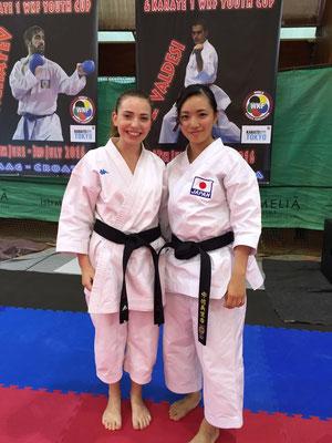 Ginevra con Rika Usami - 2016 WKF Umag