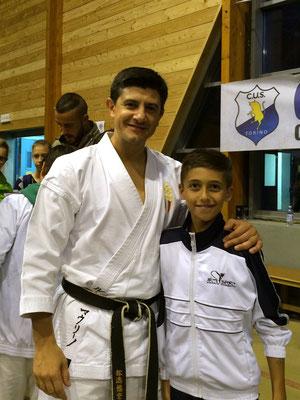 Thomas con il campione del Mondo Lucio Maurino - 2015 Bardonecchia