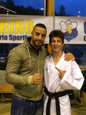 Giancaorlo con il campione del Mondo Stefano Maniscalco - 2015 Bardonecchia