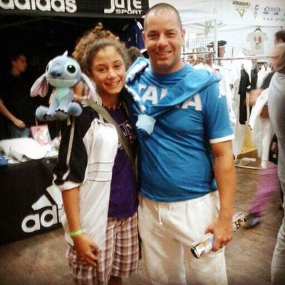 Annalisa con il campione del Mondo Benetello - 2014 Open di Lignano