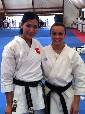 Jennifer con la campionessa del Mondo Hoang Ngan Nguyen