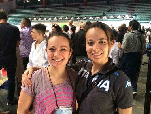 Jennifer con la campionessa Europea Bottaro - 2015 Open d'Italia