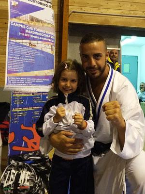 Sofia con il campione del Mondo Stefano Maniscalco - 2015 Bardonecchia