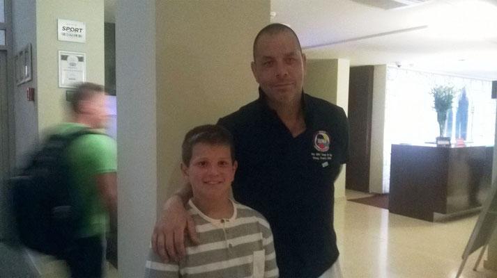 Federico con Davide Benetello - 2016 WKF Umag