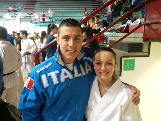 Jennifer con il campione Europeo Busato - 2015 Open d'Italia
