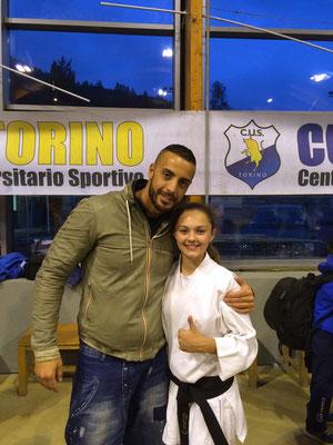 Camilla con il campione del Mondo Stefano Maniscalco - 2015 Bardonecchia