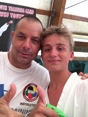 Andrea con Davide Benetello - 2016 WKF Umag