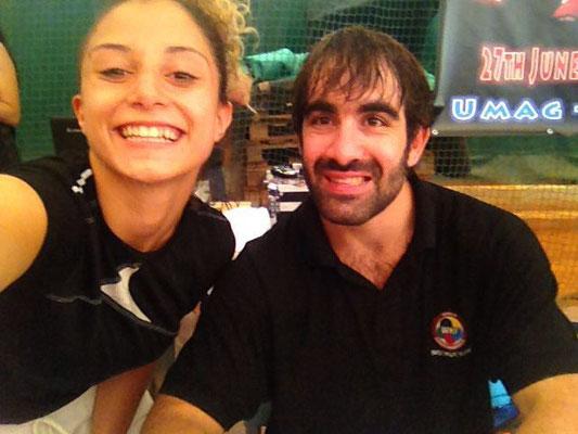 Annalisa con Rafael Aghayev - 2016 WKF Umag