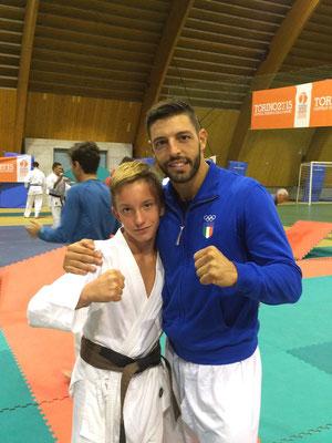 Matteo con il campione Europeo Nello Maestri - 2015 Bardonecchia