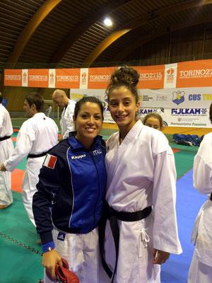 Annalisa con la campionessa Europea Laura Pasqua - 2015 Bardonecchia